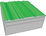 Dach zielony